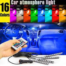 36 Led 4Pcs Car Interior Atmosphere Neon Lights Strip Wireless Ir Remote Control