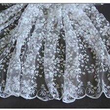 """1 Yard Flower Embroidery Lace Fabric For Dress Clothes DIY Material 49"""" Wide"""