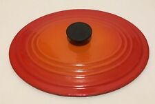 "Le Creuset Cast Iron Enamel Size BC Oval 8"" X 10"" Orange LID ONLY Made In France"