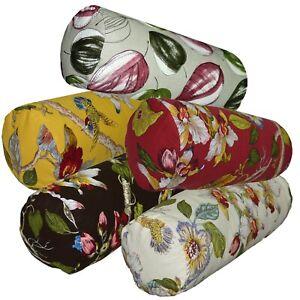 Bolster Cover*Fine Cotton Canvas Neck Roll Long Tube Yoga Massage Pillow Case*Ai
