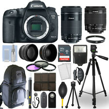 Canon EOS 7D Mark II Camera + 18-55mm STM + 55-250mm STM 4 Lens 32GB Valued Kit