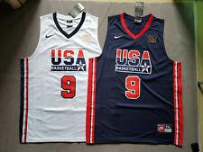 Michael Jordan #9 USA Olympic Dream Team Basketball Sewn White Jersey Men's all
