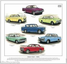 CLASSIC FORDS  1960s - Art Print - Consul Capri Corsair Cortina Popular Anglia +