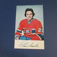 PIERRE LAROUCHE 1977-78  Montreal Canadiens  postcard Penguins  New York Rangers