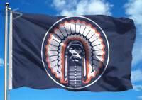ILLINOIS FIGHTING ILLINI 3x5 Feet Flag Banner Blue Chief Illiniwek Indian NCAA