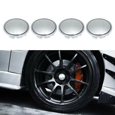 4Pcs/Set 56mm Car Wheel Center Caps Hub Tyre Rim Cover Universal ABS Chrome Y2J7