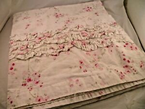SIMPLE SHABBY CHIC SHOWER CURTAIN PINK CHERRY BLOSSOM ROSE COTTAGE FLOWER FLORAL
