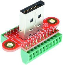 Displayport Male connector Breakout Board, adapter, elabguy DP-M-BO-V2AV, VGA
