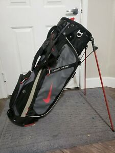 Nike Vapor X Lightweight Golf Bag Stand With Hood 5 Way Grey And Red Waterproof