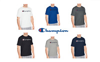 New Authentic Champion Men Jersey Script Logo Short Sleeves T-Shirt GT280 Y06794