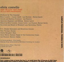 Elvis COSTELLOTear off your own head SPAIN Promo 1-Track CARD SLEEVECD SINGLE