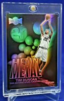 TIM DUNCAN HEAVY METAL REFRACTOR RARE SP SAN ANTONIO SPURS LEGEND HOF