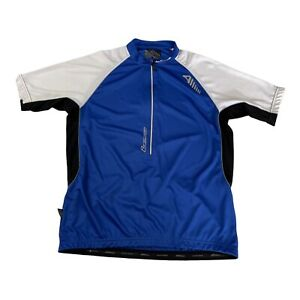 Altura Airstream Mens Cycling Top Size XL Blue White Jersey Pockets Zip Stretch