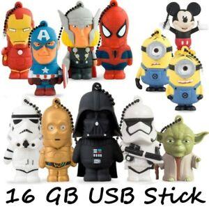 USB Stick 16GB Flash Drive Marvel DC Minions Ironman Avengers Spiderman Joker