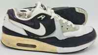 Nike Air Max Light Leather Trainers White/Black/Silver/Dark Purple UK9/US10/EU44