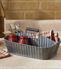 COVINGTON CARRYALL-FARMHOUSE STYLE-GALVANIZED METAL-TOTE CARRIER-NEW