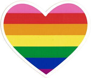 Rainbow Heart - Small Bumper Sticker / Decal