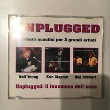 "NEIL YOUNG ERIC CLAPTON ROD STEWART ""UNPLUGGED"" RARE CDMAXI PROMO ITALY ONLY"