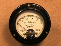 Vintage Triplett DC Milliamperes Panel Meter #321 Measures 0-1.5 mA Guaranteed