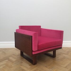 Rare Mid Century Vintage Cadovius Model 211 Rosewood Cube Chair for France & Son