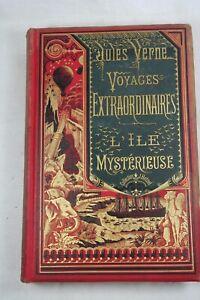 Jules Verne - L'Ile mystérieuse - Hetzel - Bannière verte