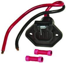 "Sierra Marine Male V-Groove 12V Trolling Motor Plug 6"" 8 Gauge W/ Butt Connector"