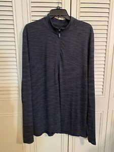 Under Armour Men's Vanish Seamless 1/4 Zip Pullover - Black Novelty - Size XL