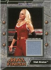 2003 FLEER WWE WRESTLEMANIA XIX MAT FINISH TRISH STRATUS EVENT USED RING MAT
