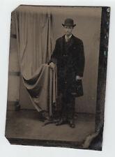 TINTYPE 11-7- Man in Bowler hat ferrotype