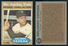 (42093) 1962 Topps 390 Orlando Cepeda All-Star Giants-EM