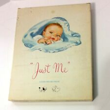 """Vintage """"Just Me"""" A Baby Record Book No. 1754 From Sanitoy"""