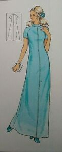 """Vintage Silver Needles Lady's Long Maxi Dress Sewing Pattern Bust 33-34"""" 84-87cm"""