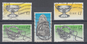 Ireland Sc 791/793 used. 1990 high value definitives, 5 different