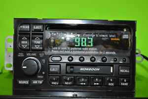 Delco Buick Monsoon factory CD cassette player radio 96 97 98 99 00 09373344 OEM
