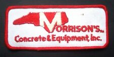 "MORRISONS CONCRETE EMBROIDERED SEW ON PATCH ADVERTISING COMPANY 4 7/8"" x 2"""
