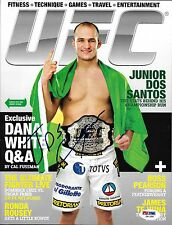 Junior Dos Santos Signed March 2012 UFC Magazine PSA/DNA COA Belt Picture Auto'd
