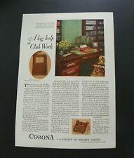 1929 Corona Typewriter Ad Diamond Crystal Salt