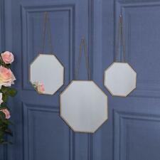 Set of 3 Gold Mirrors Chain Wall Hanging Cute Gift Home Hallway Living Home