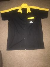 More details for holsten short sleeve shirt man cave home bar breweriana clothing black / yellow