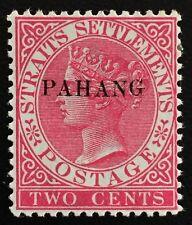 "Malaya 1889 Pahang opt SS QV 2c Mint OG raised ""G"" SG#4/ISC#4c CV RM700 MA1506"