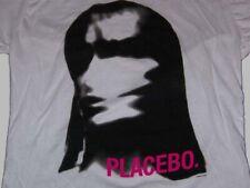 Placebo Meds album cover blur face juniors white T-Shirt XL - NEW