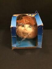 The Original Doll Baby Head 3109 Ponytail Rusty Red Hair Green Eyes 1984 FCM