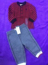 Polo Ralph Lauren Baby Boy 9m Outfit Shirt & Joggers NWT Free Shipping