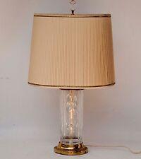 "DRESDEN CRYSTAL ELEGANT FLORAL CUT BRASS -- 24"" TABLE LAMP"