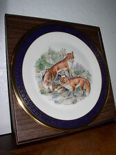 """Lenox/Boehm Woodland Wildlife Collector Plate 1974 """"Red Foxes"""" - All boxes & Coa"""