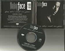 BABYFACE for the Cool In you EDIT & REMIX LIMITED USA CD Single Kenneth Edmonds