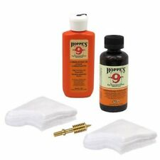 HOPPES Gun Bore Cleaner & LUBRICATING OIL 40 PATCHES 9mm-.45 Caliber & 9mm JAG