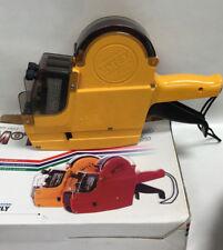 Motex MX6600 S-PLUS 2 LINE Label Gun ,yellow in original box
