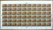 Gb 1967 Xmas Paintings 1/6 Complete Sheet of 60 Nb4329