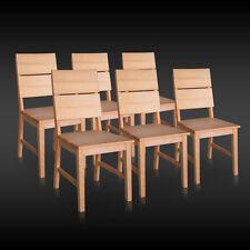 6x Stuhl SERGENT Kernbuche Buche Massivholz Stühle Küchenstuhl Wohnzimmersthul